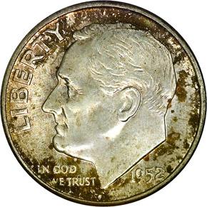 1952 10C MS obverse