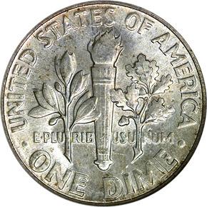 1952 10C MS reverse