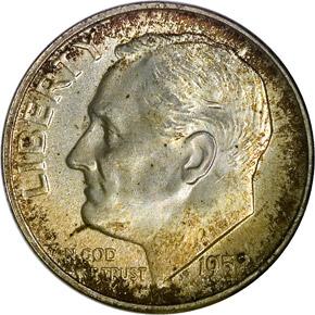 1952 S 10C MS obverse