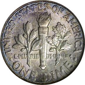 1954 10C MS reverse