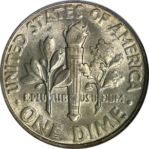 1955 10C MS reverse