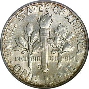 1957 D 10C MS reverse