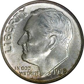 1958 10C MS obverse