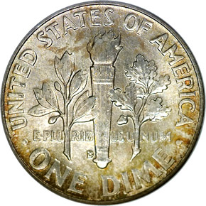 1958 D 10C MS reverse