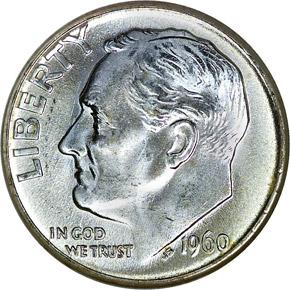 1960 D 10C MS obverse