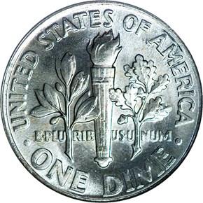 1961 10C MS reverse