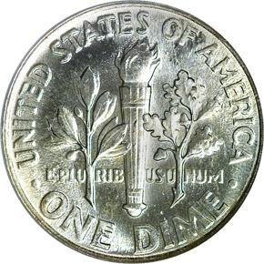 1962 10C MS reverse