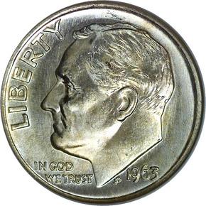 1963 10C MS obverse