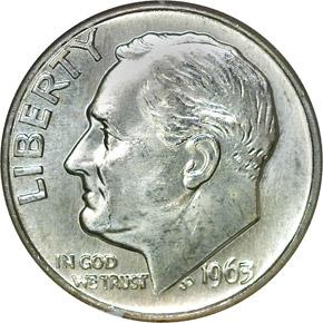 1963 D 10C MS obverse