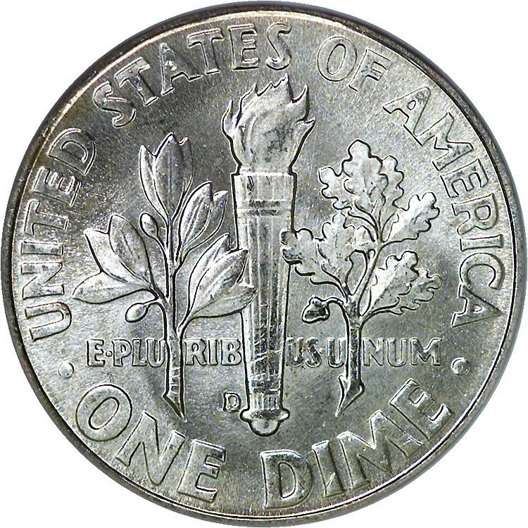 1963 D 10C MS Roosevelt Dimes | NGC