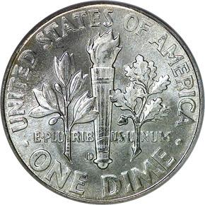 1963 D 10C MS reverse