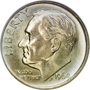 1964 10C MS obverse