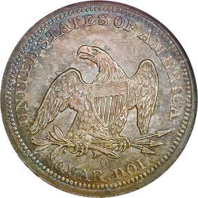1843 O 25C MS reverse