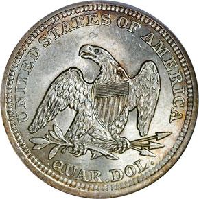 1855 ARROWS 25C MS reverse