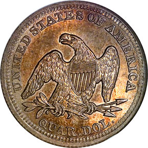 1855 S ARROWS 25C MS reverse