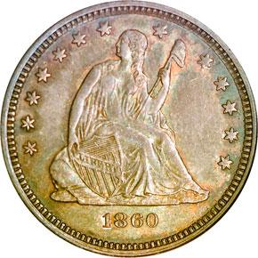 1860 O 25C MS obverse