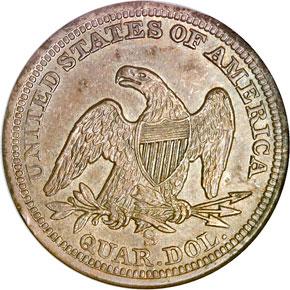 1860 S 25C MS reverse