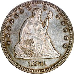 1871 25C MS obverse