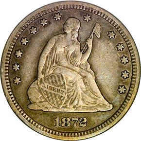 1872 CC 25C MS obverse