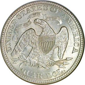 1874 ARROWS 25C MS reverse