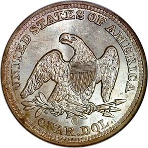 1859 O 25C MS reverse
