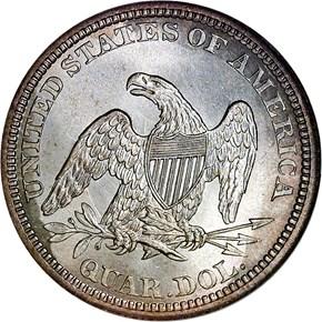 1864 25C MS reverse