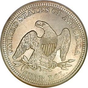 1865 S 25C MS reverse