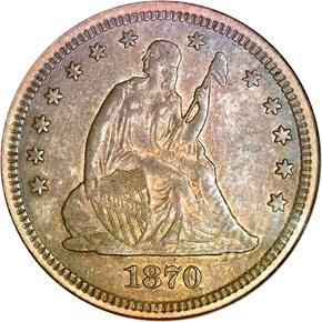 1870 CC 25C MS obverse