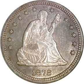 1878 S 25C MS obverse