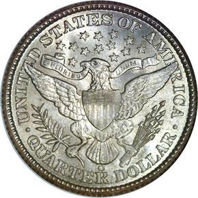 1892 O 25C MS reverse