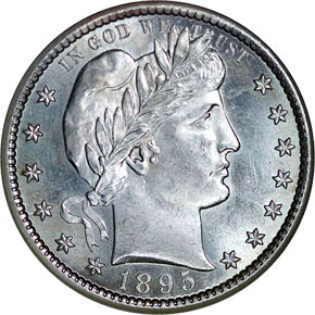 1895 S 25C MS obverse