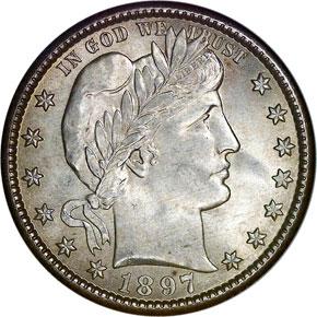 1897 O 25C MS obverse