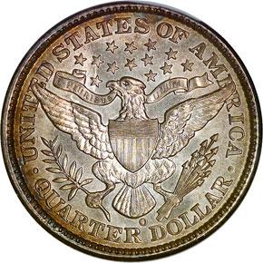 1898 O 25C MS reverse