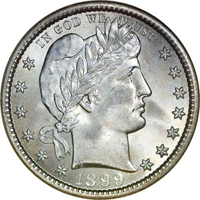 1899 S 25C MS obverse