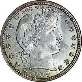 1902 O 25C MS obverse