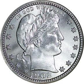 1902 S 25C MS obverse