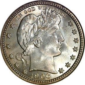 1903 25C MS obverse