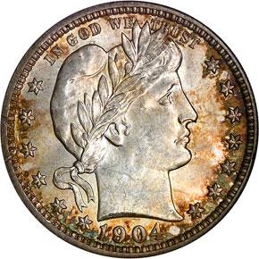1904 O 25C MS obverse