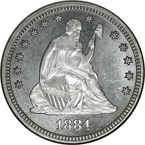 1884 25C MS obverse