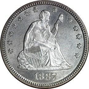 1887 25C MS obverse