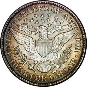 1897 O 25C MS reverse