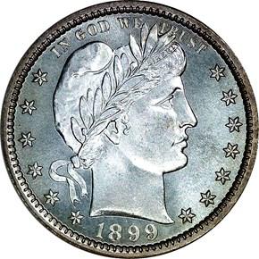 1899 25C MS obverse