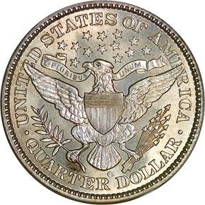 1900 O 25C MS reverse