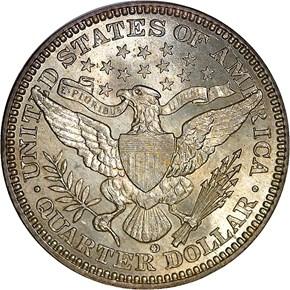 1901 O 25C MS reverse