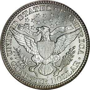 1902 O 25C MS reverse