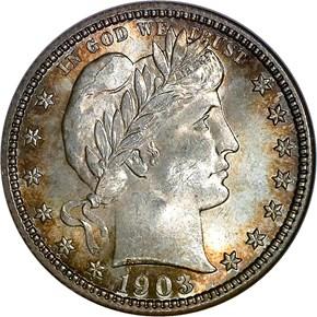 1903 S 25C MS obverse