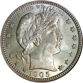 1905 O 25C MS obverse
