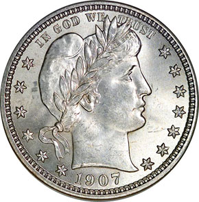1907 O 25C MS obverse