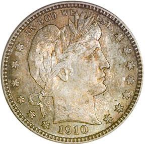1910 D 25C MS obverse