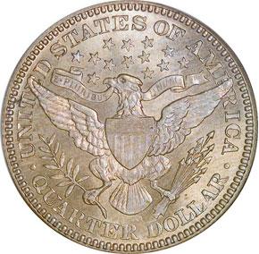 1911 D 25C MS reverse